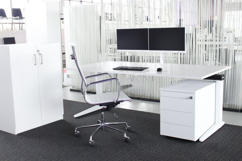 4013 white ahrend essa directiebureau 200x100 cm for Bureau 200 cm