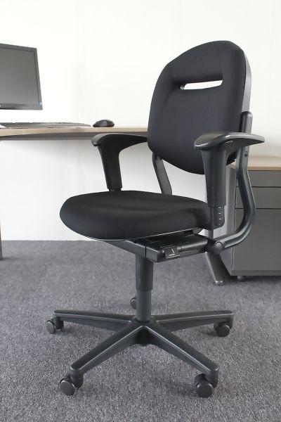 Ahrend 220 Bureaustoel Zwart.Nieuw Gestoffeerde Ahrend 220 Bureaustoel Met Garantie