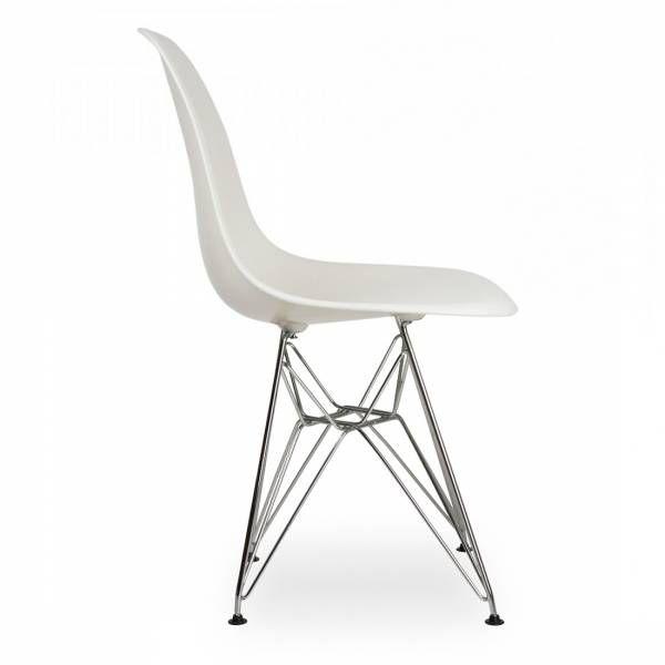 design stoel wit, op verchroomd onderstel  goedkoopinrichten.nl, Meubels Ideeën