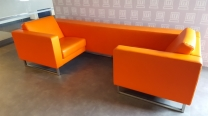 SC Design lederen bank oranje