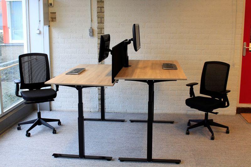 Elektrisch verstelbaar zit sta bureau zwart prestige van cas
