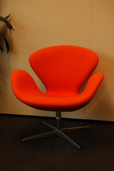 fritz hansen swan chair oranje. Black Bedroom Furniture Sets. Home Design Ideas