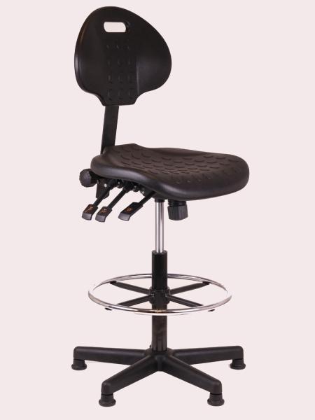 Hoge zwarte loketstoel for Zwarte ladeblok