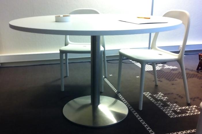Rvs ronde tafel diameter 120 cm for Ronde tafel diameter 160