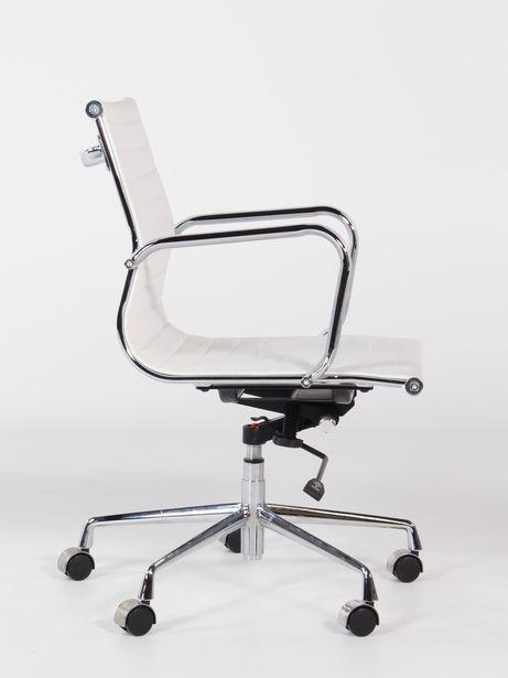 Goedkope Witte Bureaustoel.Verrijdbare Vergaderstoel Wit Assemblee Van Cas Goedkoopinrichten Nl